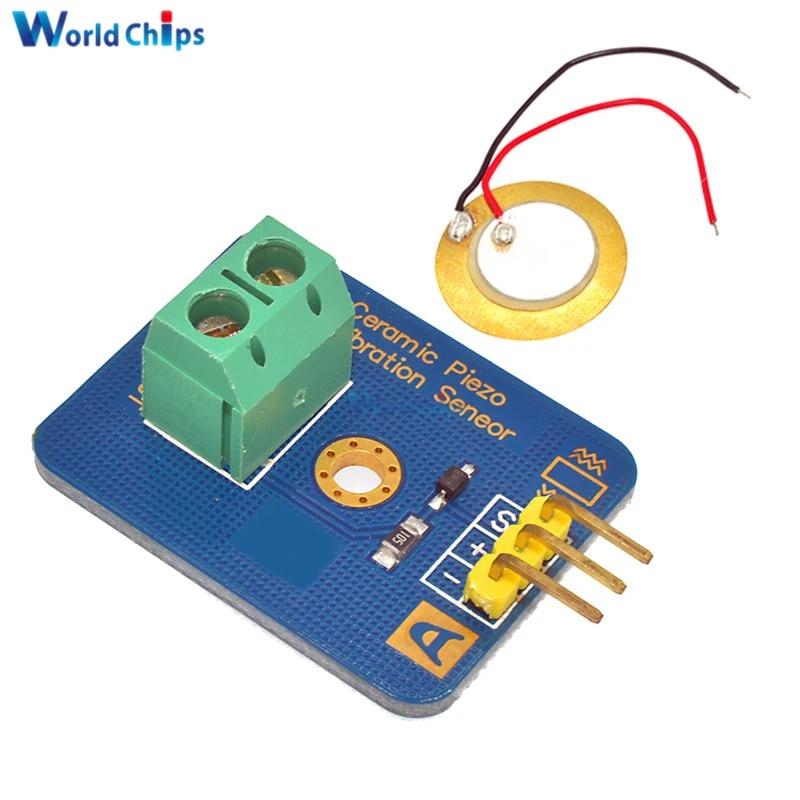 Ceramic Piezo Vibration Sensor Module for Arduino Micro-controller UNO Rev3