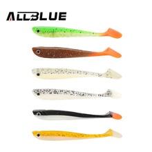 ALLBLUE 4pcs/lot 6g/11cm Handmade Soft Bait Fish Fishing Lure Shad Manual Silicone Bass Minnow Bait Swimbaits Plastic Lure Pasca