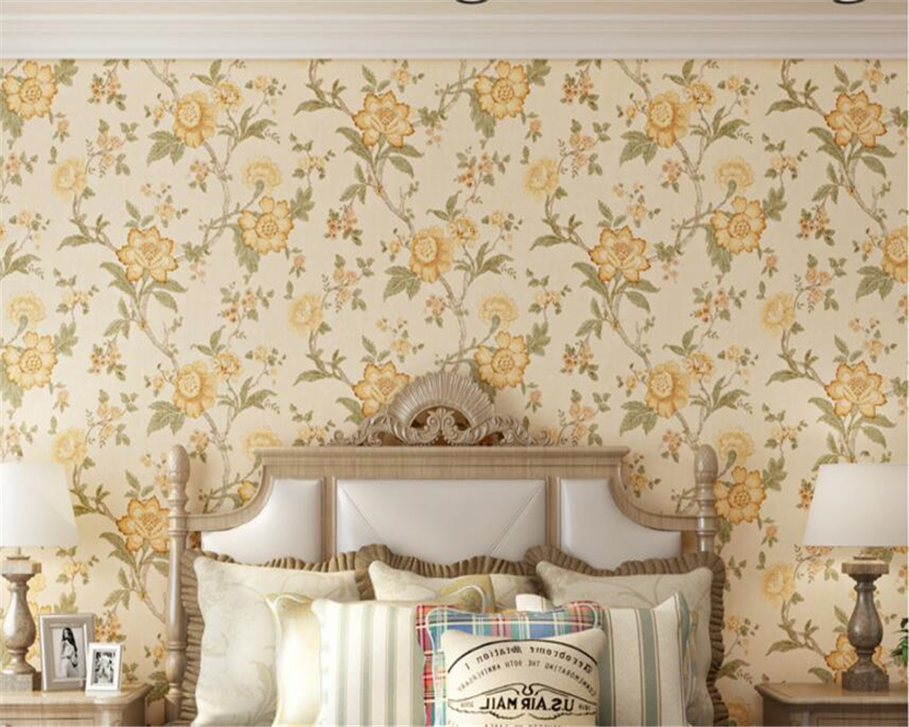 Big Sofa Fawn Us 33 06 39 Off Beibehang Papel De Parede Countryside Retro Nostalgic Pastoral Big Flower Bedroom Living Room Sofa Background Wallpaper Tapety In