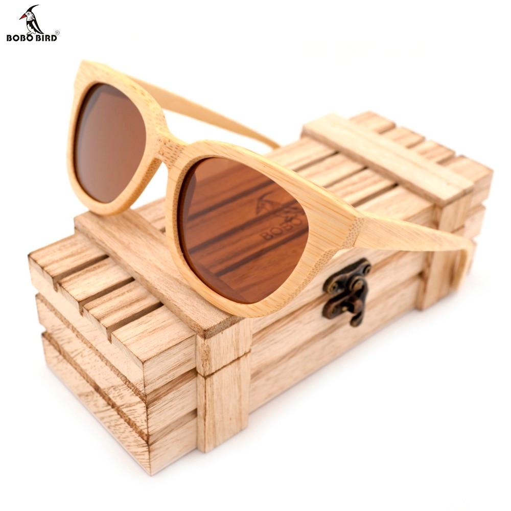 BOBO BIRD Handmade New Style Polarized Bamboo Wood Sunglasses Women Brand Designer Oversized Sun Glasses With
