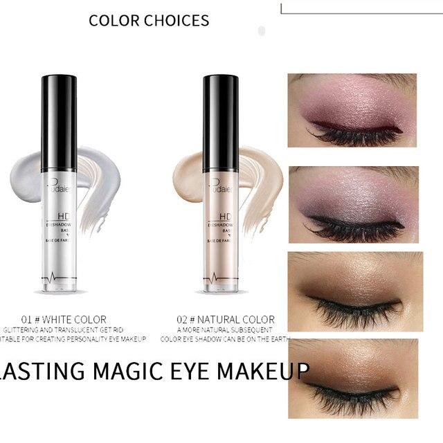 Pudaier Professional Makeup Base 2 Colors Face Foundation Primer Liquid Eye Shadow Primer Facial for Face Contour Concealer 2