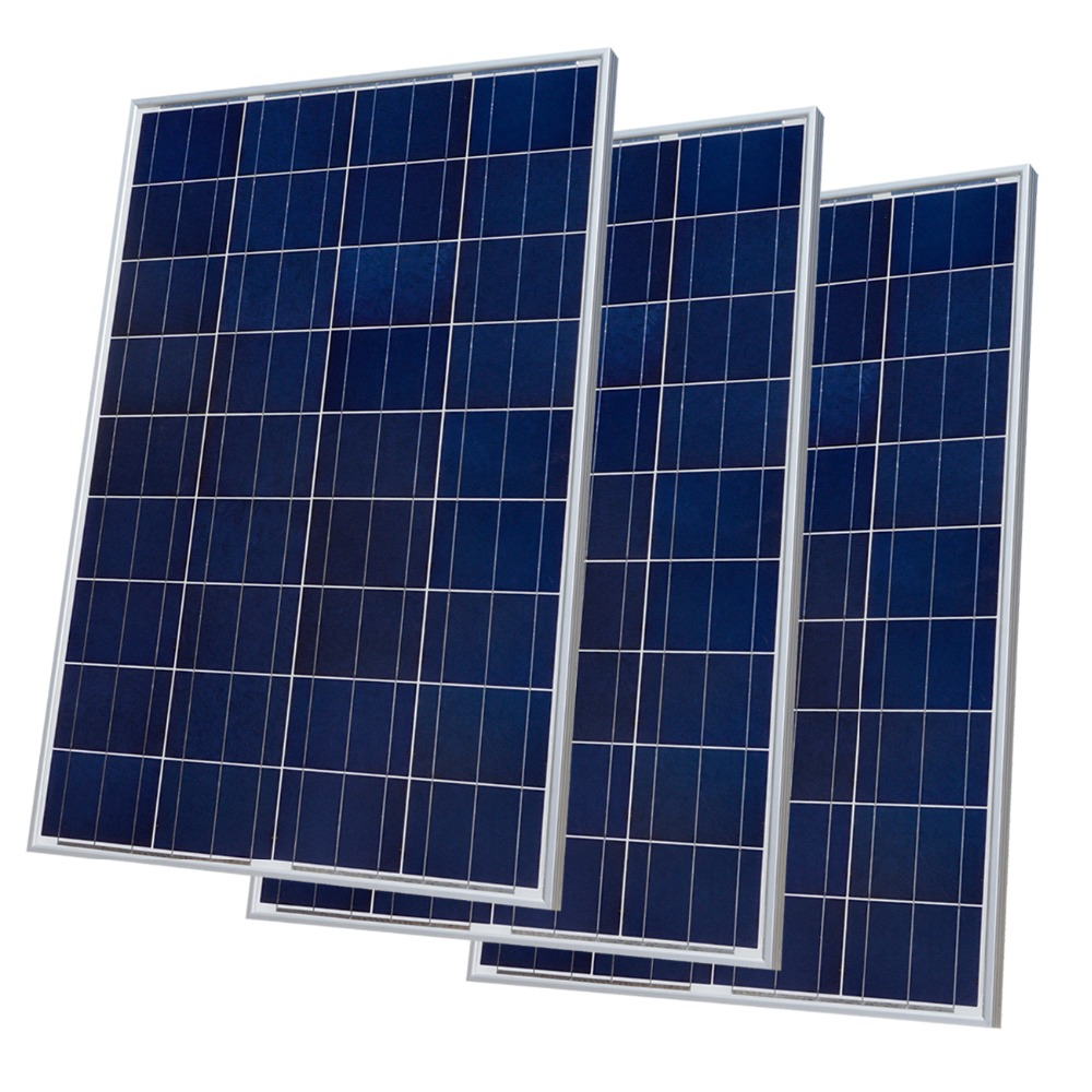 300w 12V Poly Solar Panel Kit Advanced RV Solar Kit 3pcs 100w Solar Panel for Off Grid Solar System for home