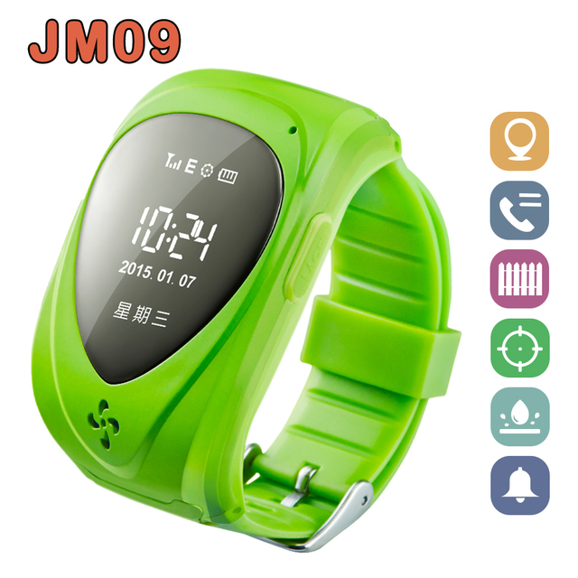 GPS Tracker Watch Kids Hot sale Smart watches Blue Pink Green SOS Anti-lost Monitor 12 Languages GPS Watch JM09