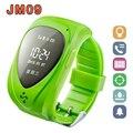 Relógio GPS Tracker Crianças Hot sale relógios Inteligentes SOS Anti-perdido Do Monitor Azul Verde Rosa 12 Idiomas GPS Relógio JM09