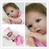 55 cm reborn dolls babies Baby Simulation Doll Soft Children Reborn Baby Doll bebe reborn silicone reborn dolls Lifelike Newborn