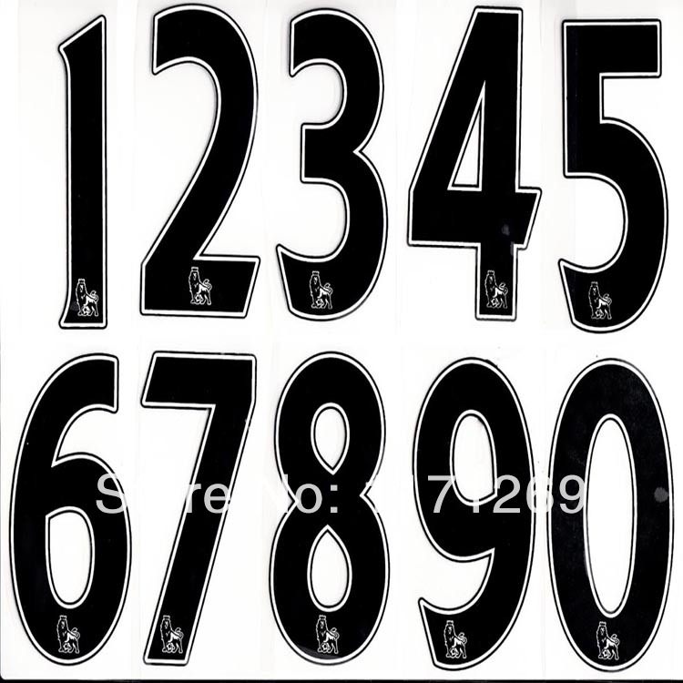 English premier league soccer jersey watermark number