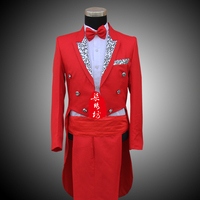 Mens Wedding Tuxedo SUIT&PANTS Jackets Formal Tail Coat Trouse Party Costumes