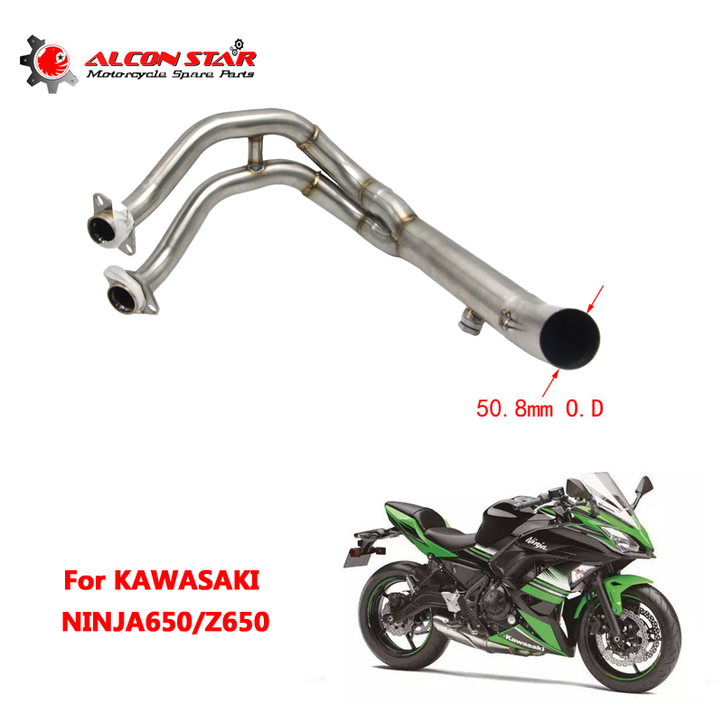 Alconstar- For Kawasaki NINJA650 <font><b>Z650</b></font> Motorcycle Stainless Steel 51mm <font><b>Exhaust</b></font> Full System Pipe Muffler Header Racing image