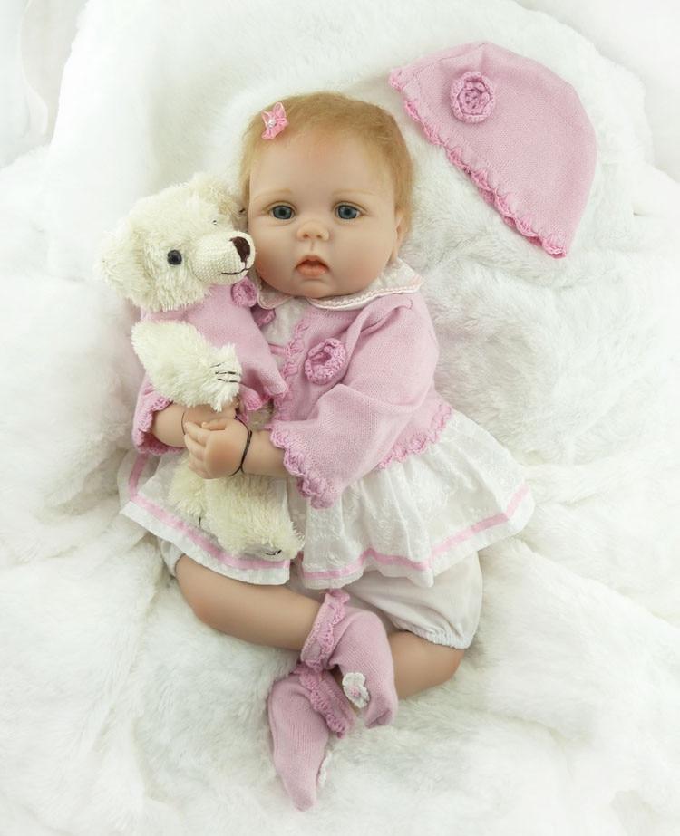55CM Newborn Baby Soft Silicone Reborn  Babies Dolls Lifelike Real Bebe Doll For Children Birthday Xmas Gift