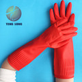 The new 40 cm latex gloves sunflower household extension thickening acidproof alkali oil protective gloves