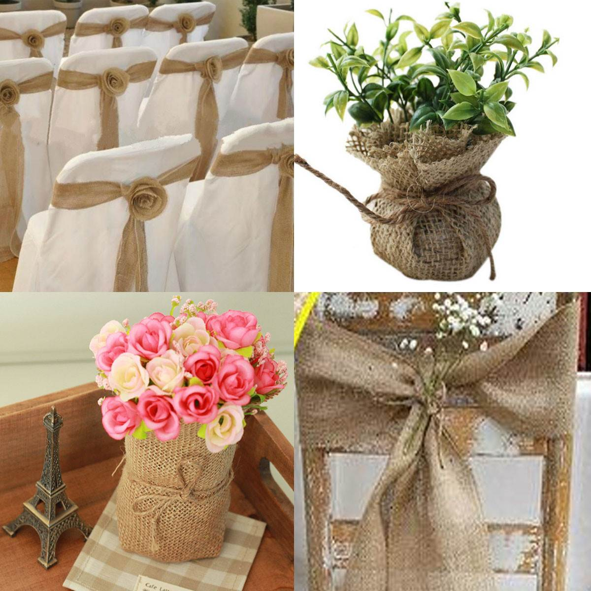 Burlap Chair Covers For Folding Chairs Swivel Upholstered Popular Sash Buy Cheap Lots