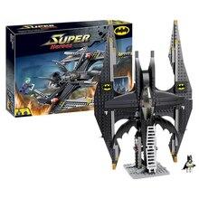 Decool 7112 Super Heroes Batman&Joker Batwing building Blocks Bricks Toys for children Boy Game Compatible with Lepin Bela 7782