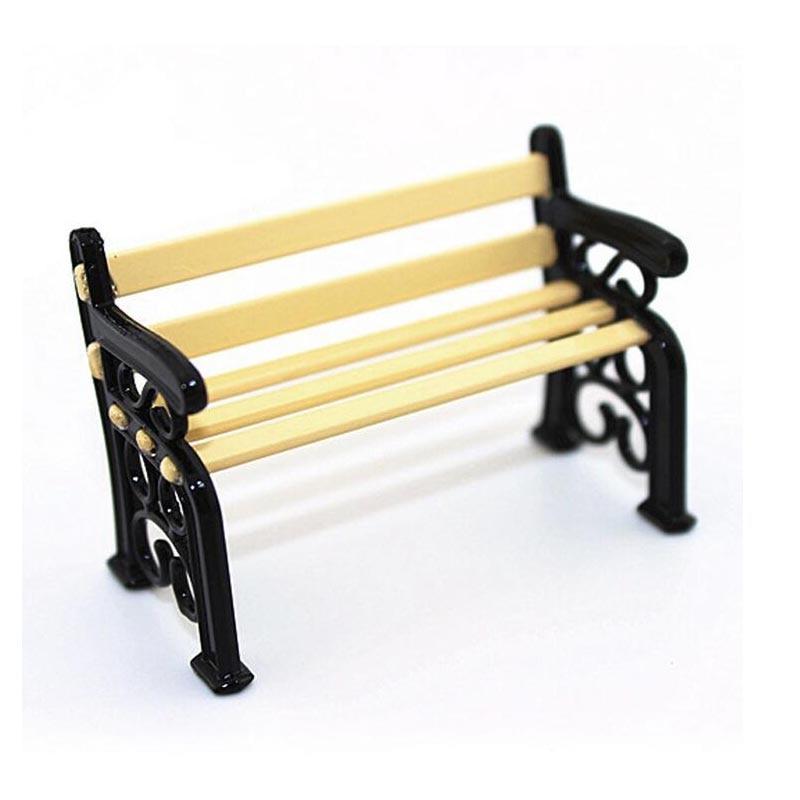 10PCS / LOT Pop-accessoires Houten stoel Poppenhuis Miniatuur 1:12 Meubels