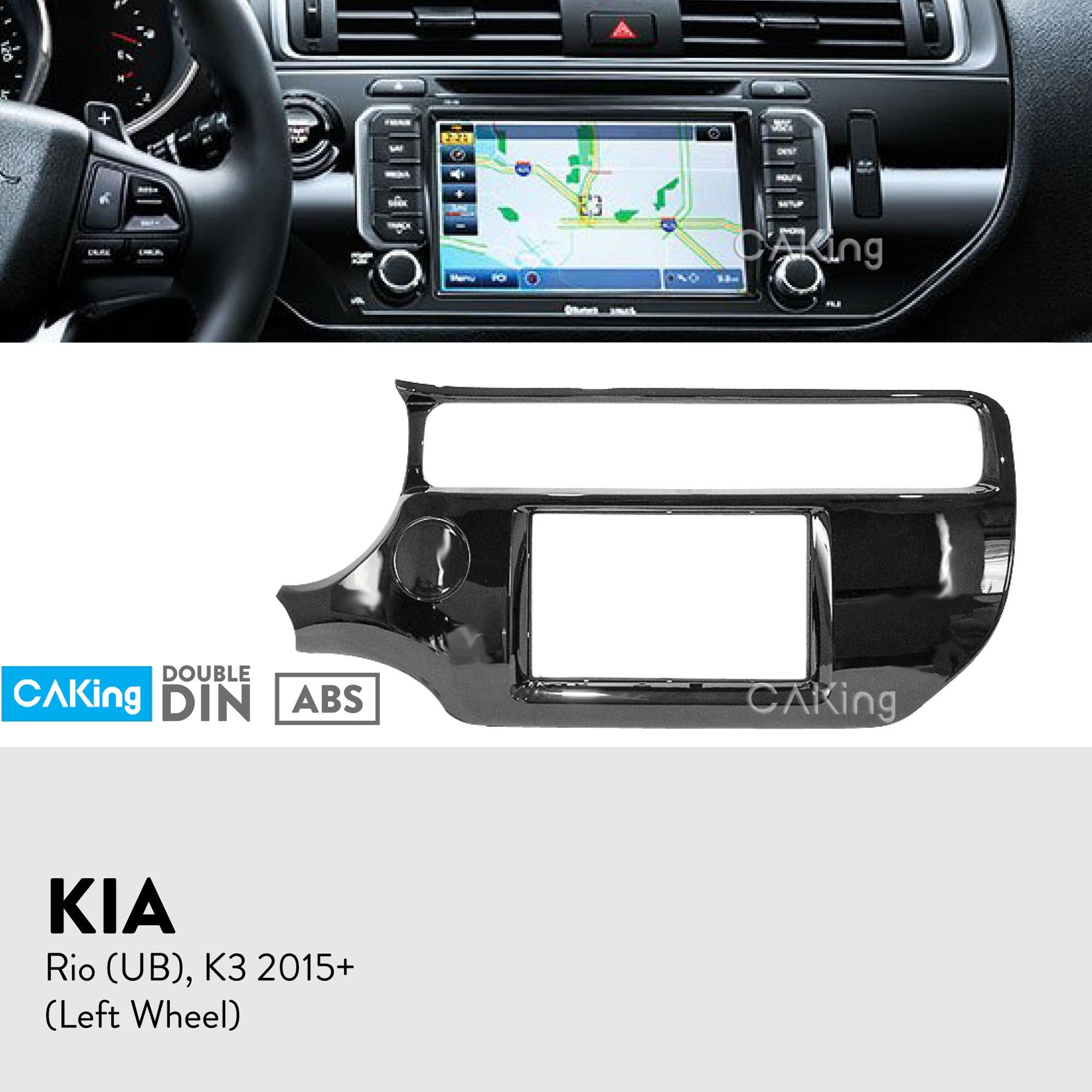 Color Name : Black GaCunYan Car Radio Fascia Fit for KIA Forte ...