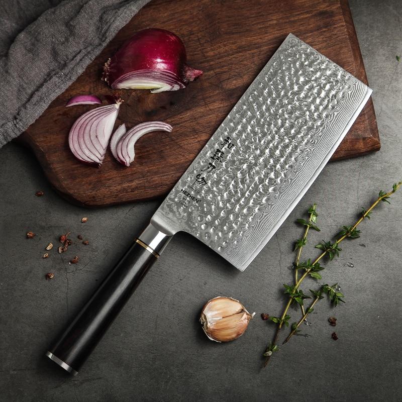 7 인치 다마스커스 스틸 주방 슬라이스 나이프 고품질 일본 칼 스테인레스 스틸 고기 야채 유틸리티 요리 나이프-에서주방 칼부터 홈 & 가든 의  그룹 1