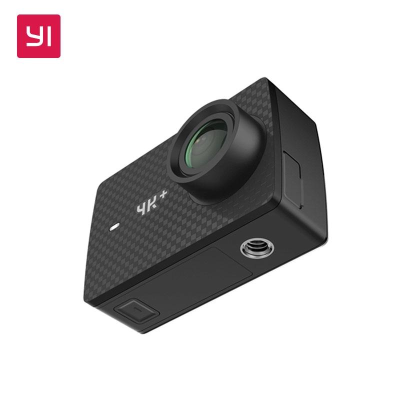 YI 4K+(Plus) Action Camera Only International Edition FIRST 4K/60fps Amba H2 SOC Cortex-A53 IMX377 12MP CMOS 2.2LDC RAM WIFI [hk stock][official international version] xiaoyi yi 3 axis handheld gimbal stabilizer yi 4k action camera kit ambarella a9se75 sony imx377 12mp 155 degree 1400mah eis ldc sport camera black