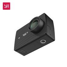 """YI 4 K + (Plus) Câmera de Ação Só Edição Internacional PELA PRIMEIRA VEZ 4 K/60fps Amba H2 SOC Cortex-A53 IMX377 12MP CMOS 2.2 """"LDC RAM WIFI"""