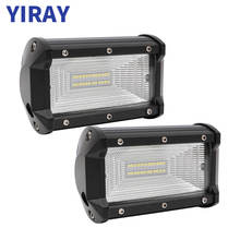 YIRAY 5 Inch 72W LED Work Light Bar Flood Wide for Driving Offroad Boat Car Tractor Truck 4x4 SUV Jeep ATV 12V 24V