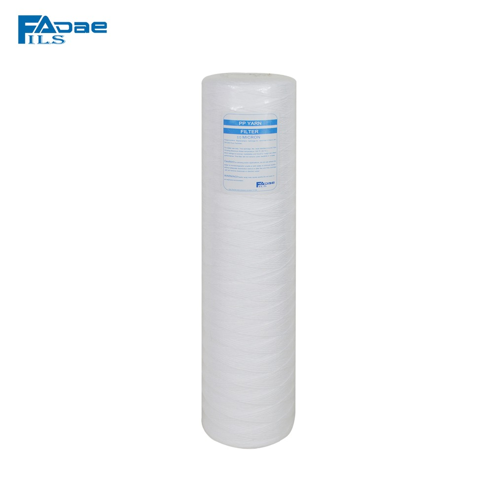 Whole House Polypropylene String Wound Water Filter Cartridge 10Micron , 20-inch x 4-1/2 Diameter whole house water filter replacement cartridge granular coconut carbon filter 4 5 x 10 inch