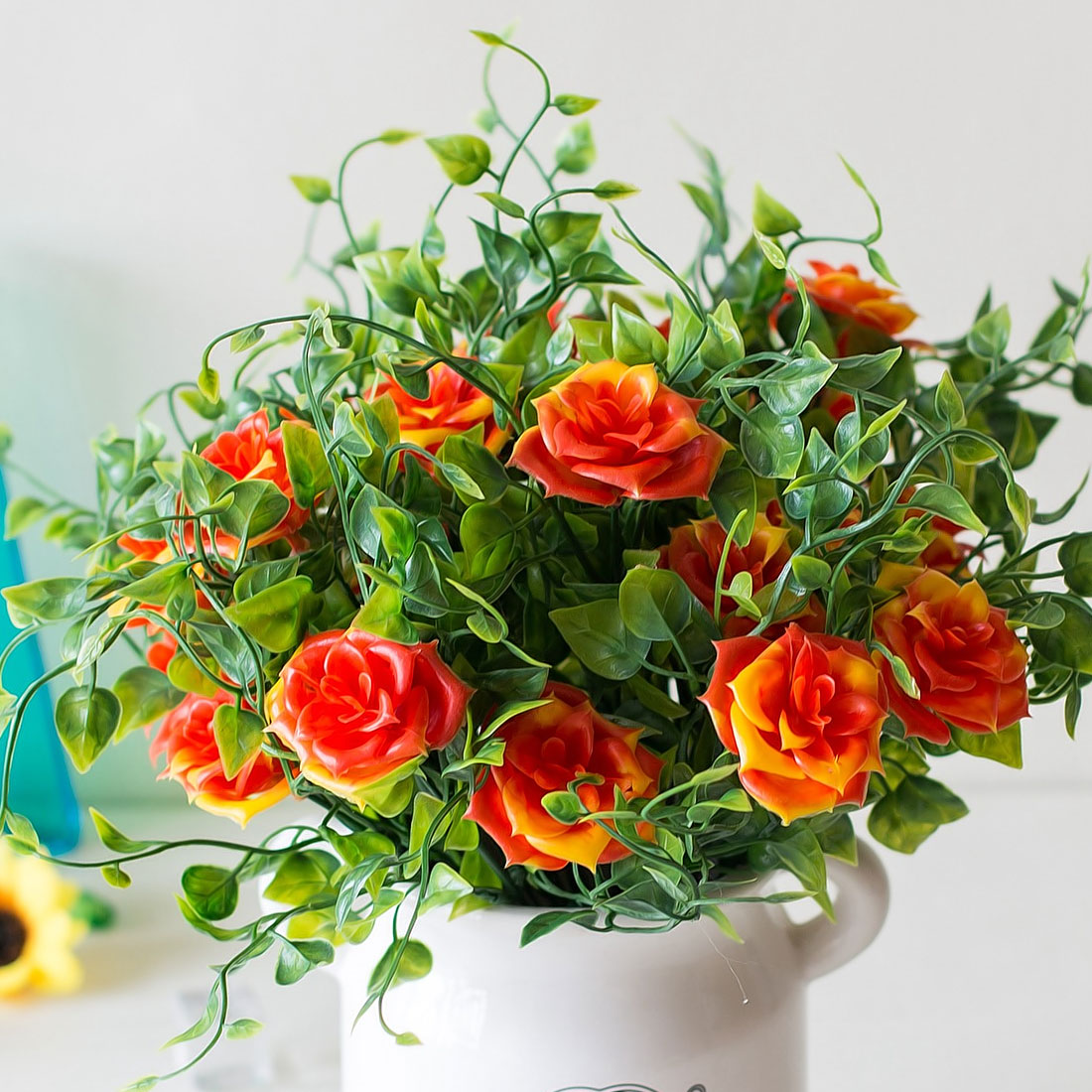 Silk flores 1 branch small artificial plants grass fake rose floral rose flowers home decoration 1 branch small artificial flowers plants grass fake floral plastic silk eucalyptus izmirmasajfo