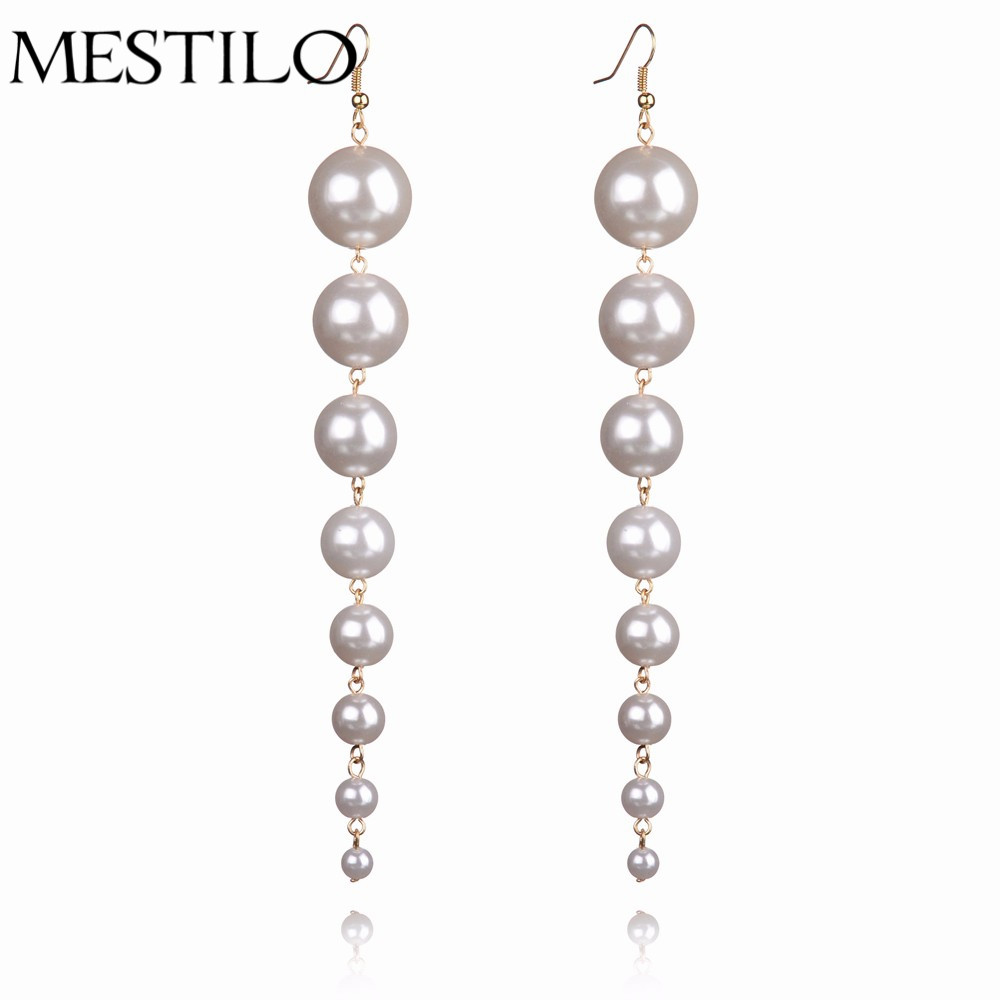 Aliexpress : Buy 2017 New Fashion Vintage Earrings Long Great Pearl  Dangle Women Jewelry From India Party Boucle D'oreille Femme Pendante  Brincos From
