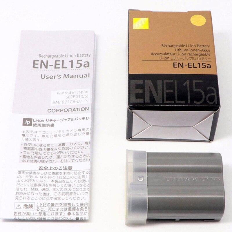 2PCS/Lot 1900mAh EN-EL15A ENEL15 EN EL15A Camera Battery For Nikon D850 D810A D810 D800 D750 D610 D600 D7100 D7200 D7500 V1