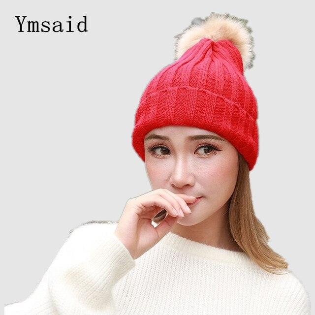 2018 Venditore Caldo Cappelli di Lana di Lana Caldo Del Cappello di Inverno  Con Pompon Bobble c6817a144a92