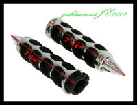 CHROME SPIKE 1 HAND GRIPS for Yamaha FZR YZF 600 R6 R1 VMax Virago 250 535 750