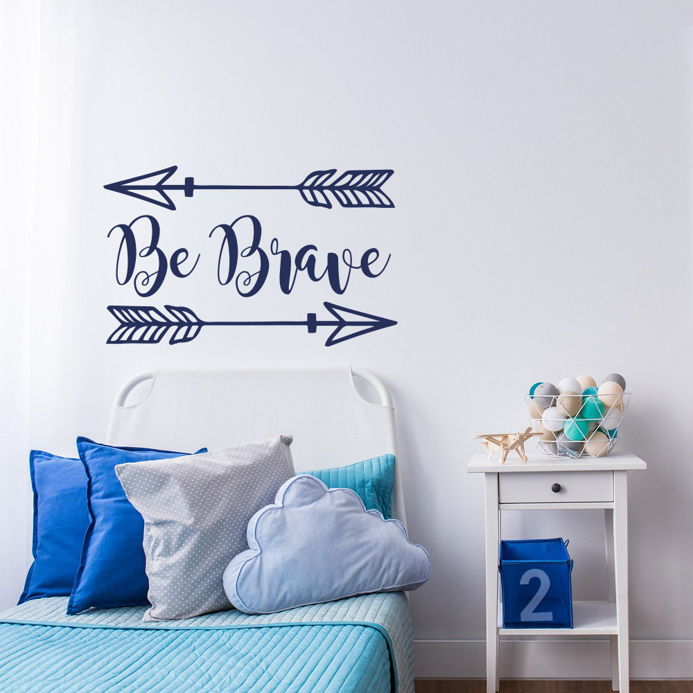 Two Arrows Removable Wall Stickers Quote Be Brave Decal Home Self Boys Room Dedicated Modern Vinyl Woodland Sticker  SYY174