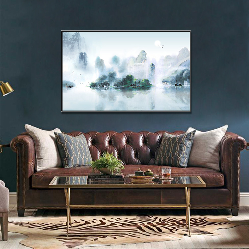 Unframed Canvas Prints Landscape scenery Watercolour Giclee Wall Decor Living Room Decoration Mural Module Art Spray Painting