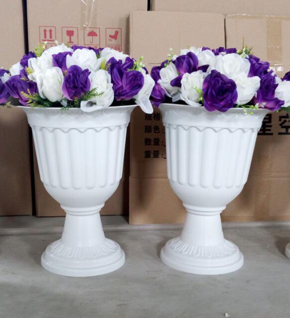 Wholesale Plastic Trumpet Vase Wedding Event Decoration Pvc Roman