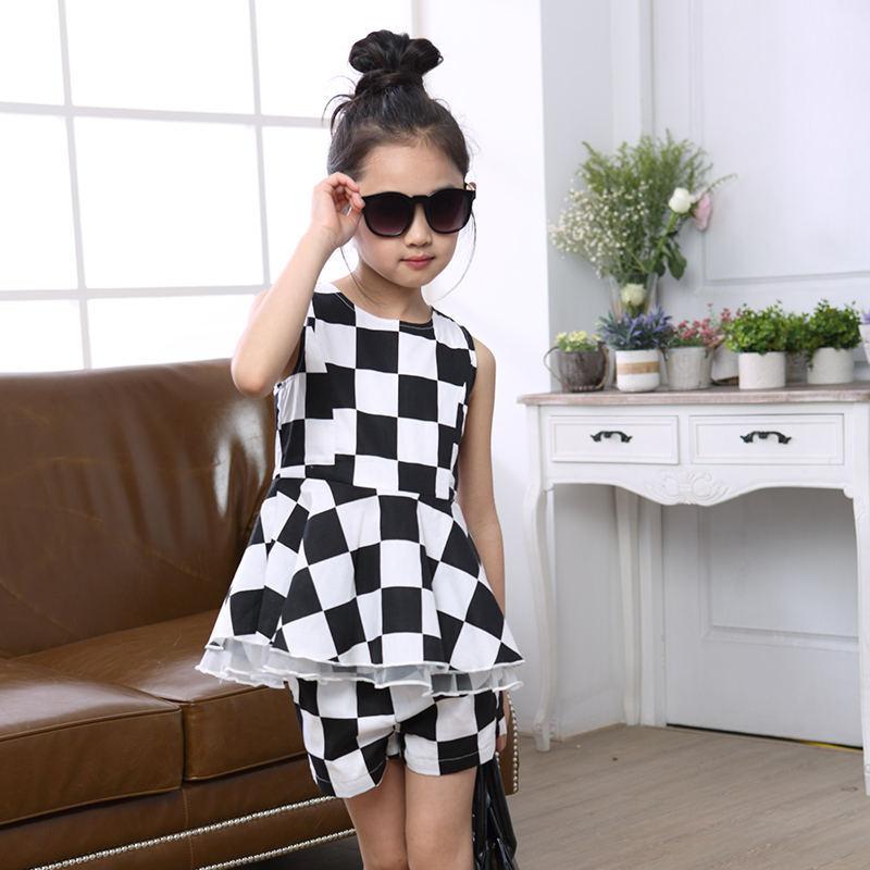 Black dress casual anak