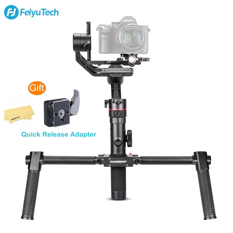 Feiyu AK2000 w/Dual Lidar Com Grip Kit FeiyuTech 3-Eixo Cardan Handheld Mirrorless DSLR Estabilizador para Sony Canon câmera Nikon