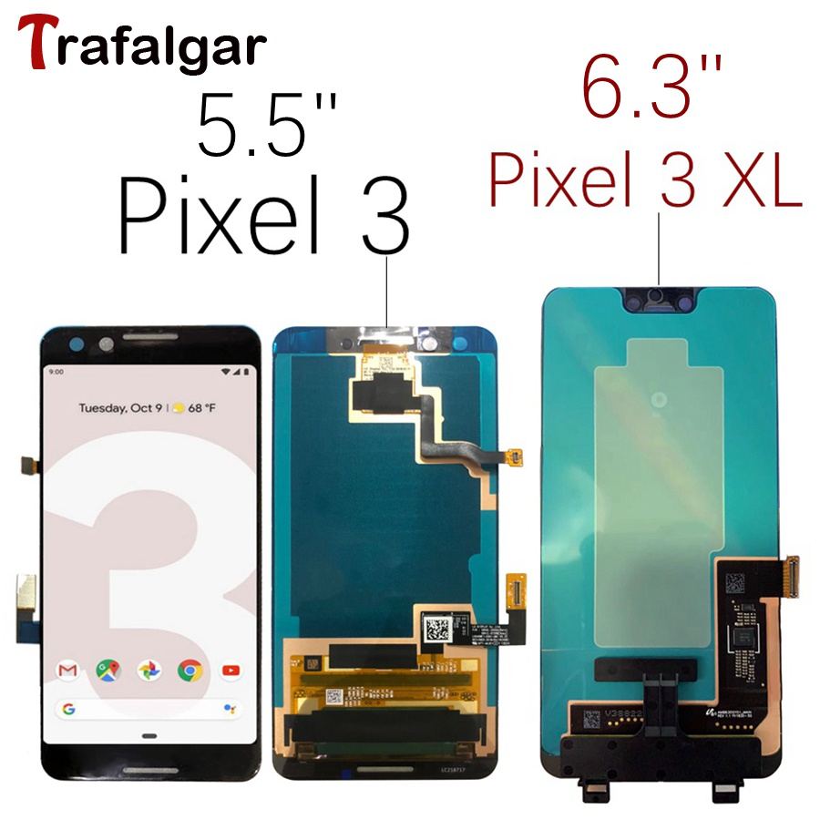 For 6 3 Google Pixel 3 LCD Display Touch Screen Digitizer Assembly For Google Pixel 3