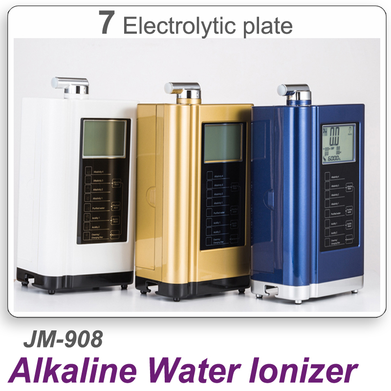 7 Plates household Alkaline Water Ionizer alkaline water stick ionizer JM-908 Alkaline Water Ionizer with heating function wholesale lcd alkaline water ionizer