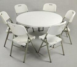Z tworzywa sztucznego HDPE składany stół do jadalni okrągły dla hoteli restauracji w domu i na zewnątrz 122Dx74H cm