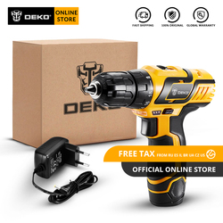 Original DEKO GCD10.8DU3 10.8V Cordless Drill Electric Screwdriver Lithium-Ion Mini Power Driver Variable Speed LED Standard Set