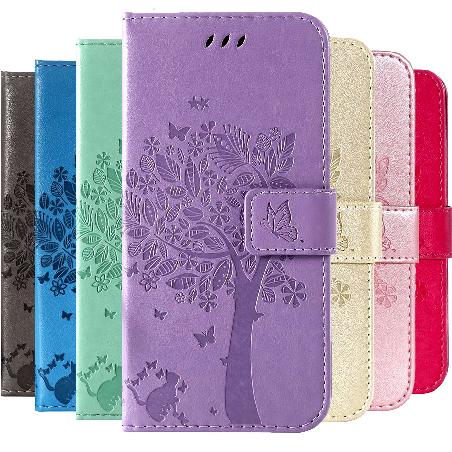 3D Cat & Tree Wallet Cases For Samsung Galaxy A51 A50 Flip Cover For Samsung Galaxy A51 A50S Funda PU Leather Phone Cover Case
