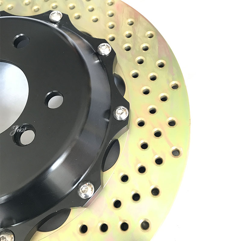 Jekit brake disc with center bell 380*34mm for BMW e90 front for brembo GT6 six pots brake calipers