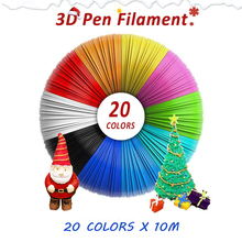 цена на Plastic for 3d Pen 10 Meter PLA 1.75mm 3D Printer Filament Printing Materials Extruder Accessories Parts Transparent White Wood
