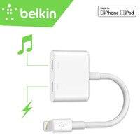 Audio + Charge Belkin Rockstar Mif Certyfikowanych 8 pin Adapter Cable for iPhone X 8 7 Plus 6 s dla EarPods Słuchawki F8J198bt