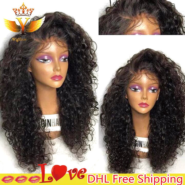 Deep Curly Synthetic Lace Front Wig Black Big Curly Wigs High Quality Heat  Resistant Synthetic Wigs For Black Women Hot Sale 8A 8d102beb9