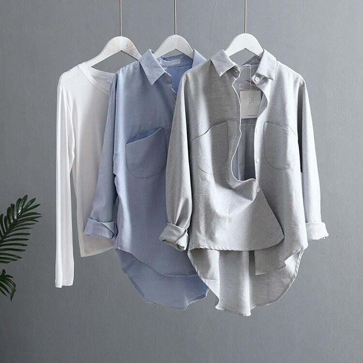 2019 Весна для женщин Летняя Блузка корейский с длинным рукавом s Топы корректирующие и блузки для малышек Винтаж женские рубашки Roupa Feminina