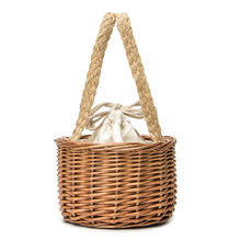 Fashion Women Bags Designer Rattan Straw Bag Stitching Bamboo bag Bucket Clutch Bali Beach Holiday Travel Handbag
