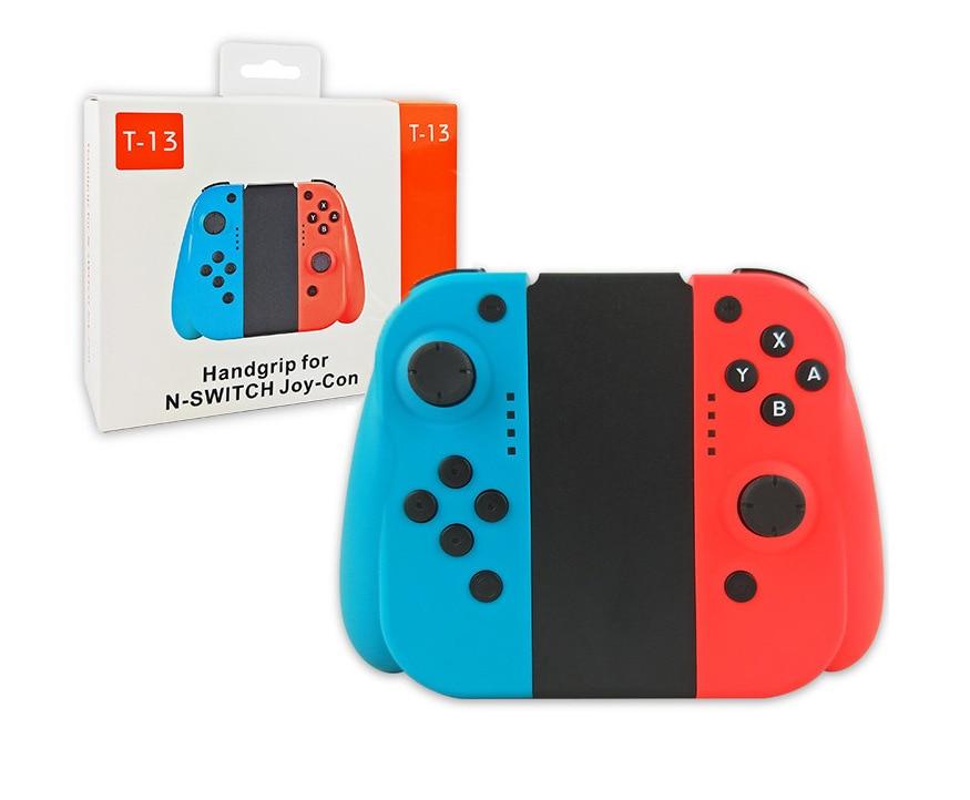 Manettes Bluetooth Pro Handgrip sans fil Joy-Con (L/R) manettes de jeux manette pour nessa Switch NS Console bleu et rouge