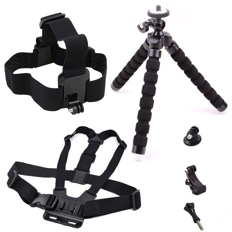Action Camera Accessories Kits for Gopro hero 6 Selfie Monopod for Xiaomi Yi 4K Tripod for Go pro 5 4s for SJCAM SJ4000 EKEN H9