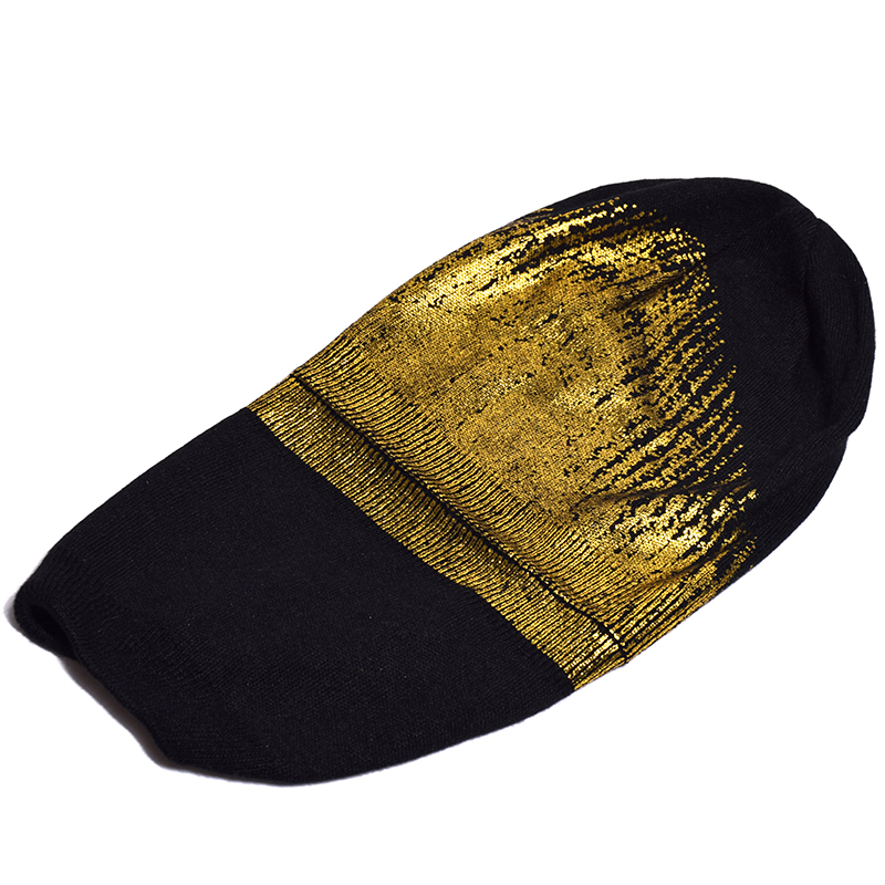 2018 New Winter Hats For Women Gold plating Wool Knitted Hat Fashion Brand Cap Casual Warm Hat Female Skullies Beanies Bonnet in Women 39 s Skullies amp Beanies from Apparel Accessories