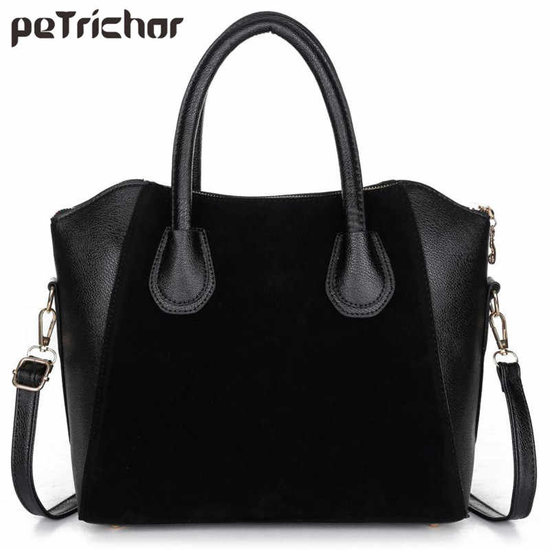 ea918dd4e7628 Fashion Women s Leather Handbag Single Shoulder Bags Casual Crossbody Bags  Solid Brand Shoulder Bag Zipper Soft