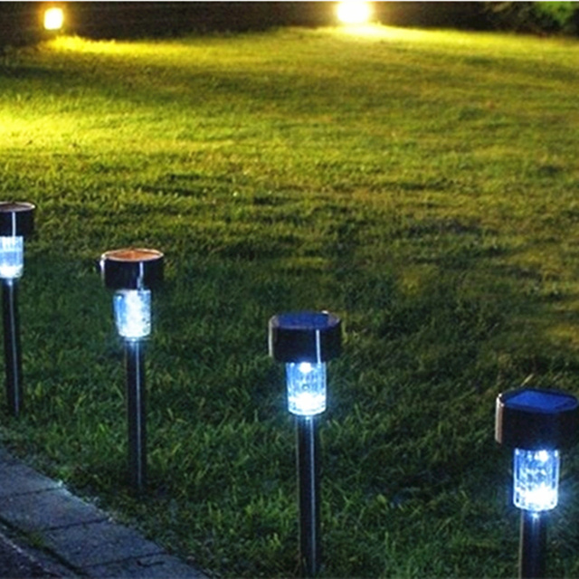 Solar Panel With Led Light Part - 50: Garden Decoration Courtyard Lights Solar LED Light Solar Charging Solar  Panel/lamp Wholesale Free Shipping