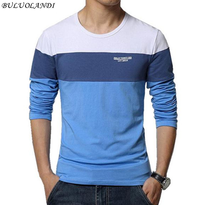 Camiseta de verano de los hombres 2017 nueva moda de rayas camiseta de los hombres tendencia de los hombres delgada de manga larga camiseta casual camiseta 5XL